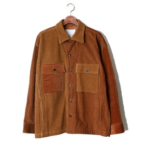 Double Lapel Shirt JKT -camel <LSD-AI3S2>