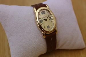 Stella Watch oblong  (ステッチ~マルーン)