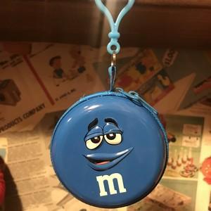 m&m's クリップ付き 缶ケース ブルー