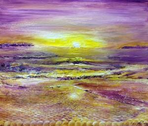 『シャンパンゴールドの海』油絵