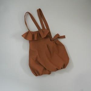 ぷっくりかぼちゃパンツ の サロペット ☆ テラコッタ (90)