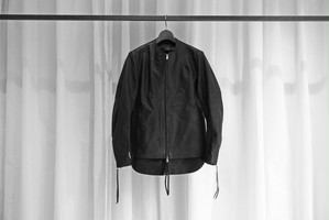 20ss受注生産品 ASKYY / SINGLE LEATHER RIDERS -OSW- / BLK