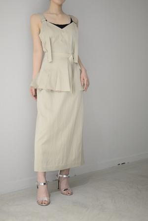 ROOM211 / Grossy Belt Dress