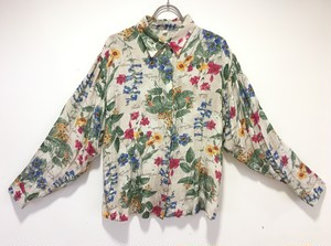 rétro flower long-sleeve shirt