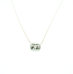 Holey stone Conecave Necklace Green amethyst - K18YG