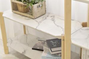 Marble Open 3 Shelf 900 / 大理石モダンスタイル 大理石調 3段シェルフ棚 900