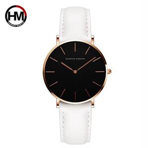 シンプルジャパンクォーツムーブメントウォッチレザーストラップナイロン時計女性アナログ防水腕時計CH36-FB