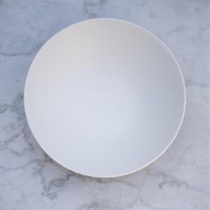 Stoneプレート クープ皿 (リッチホワイト) 26㎝