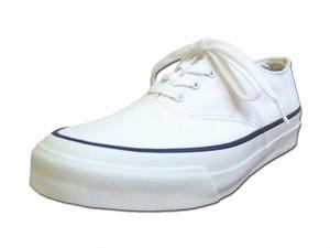 【レディース】 Asahi アサヒシューズ DECK デッキシューズ L011 WHITE ホワイト キャンバス Shoes MadeinJAPAN 日本製 福岡 久留米