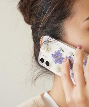 〈スマホケース〉ドライフラワー クリア iPhoneケース  4