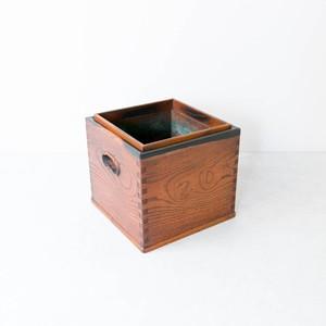 黒柿縁の角火鉢