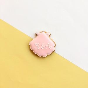 イニシャル入れ Shell Cookie (10個単位でご購入ください@442)