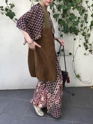 Vintage brown long vest ( ヴィンテージ ブラウン ロング ベスト)