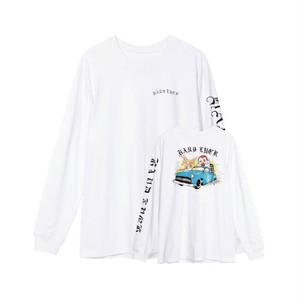 HARD LUCK - CLOWN JOKER L/S TEE (White)
