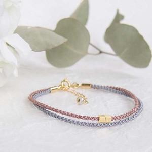 bracelet ◍tenowa(smoky pink)