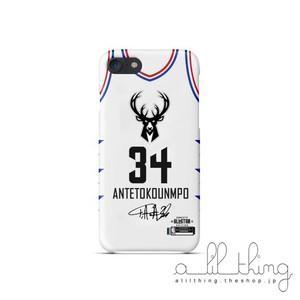 「NBA」シャーロット オールスター2019 チームヤニス ユニフォーム ホワイト サイン入り iPhoneXS iPhone8 ケース