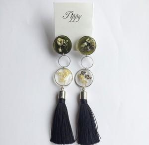 petal tassel earring (silver)