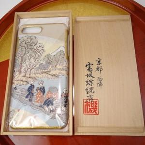 西陣織スマホケース/厳選逸品【対応機種:iphone7/8 Plus】
