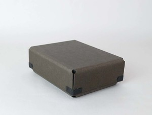 concrete craft (コンクリートクラフト)BENT チャコール A6 W12,5 × D16,8 × H6cm パスコ ボックス ステーショナリー 機能性 収納雑貨 Craft One