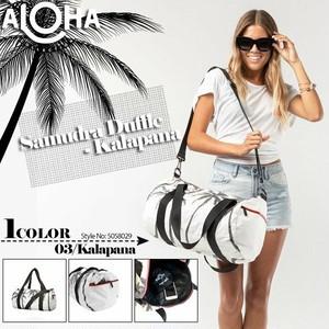 5058029 アロハコレクション ショルダーバッグ ダッフル レディース タイベック 白 黒 Aloha Collection SAMUDRA Duffle - Kalapana