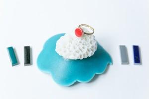 006-r 伝統文化品美濃焼多治見丸タイル指輪・リング(フリーサイズ) ※証明書付