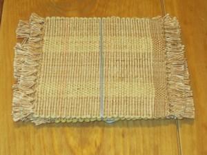 裂き織りコースター