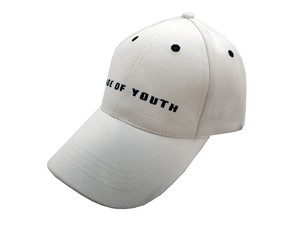 PAGE OF YOUTH 刺繍CAP[H-045 WHITE]