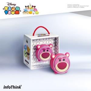 InfoThink Bluetoothスピーカー Disney ディズニー ツムツム LEDライト 5V/0.5A ロッツォ IT-BSP100-Lotso