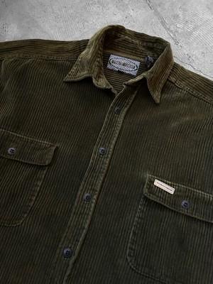 double pocket corduroy shirt