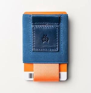 ■MOORGON モールゴン ミニマル財布 イージースリムウォレット ネイビーチーク