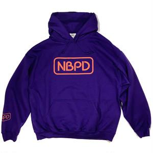 """Printed hooded top """"Logo 2020"""" Purple"""