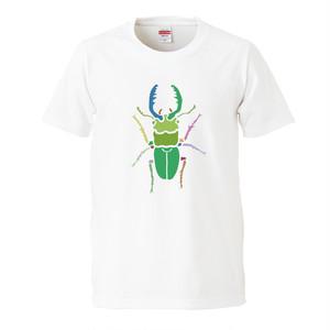 クワガタ プリントTシャツ