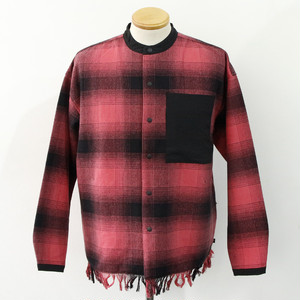 【FILA HRTG】BAND COLLAR SHIRTS (RED)