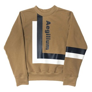 Aegilium print  sweat shirt Beige