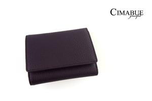 チマブエ グレースフル|CIMABUE graceful |シュランケンカーフ3つ折ミニ財布|パープル