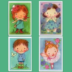 〈はなもね〉オリジナルポストカード『バレリーナセット』
