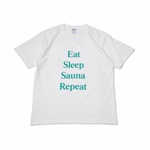 Sauna Repeat  T-shirt white