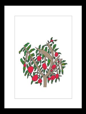 プリント額絵:なおき作「りんごの木のしたで」