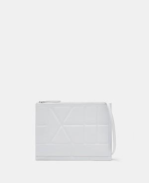 FLAT CROSSBODY BAG WITH GEOMETRIC LINES [21205137320111]