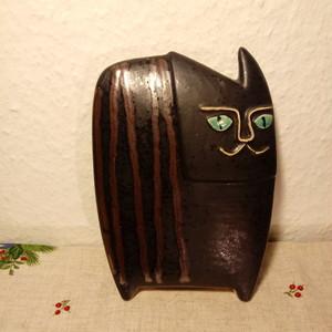 9月 デンマークヴィンテージ 猫 陶器