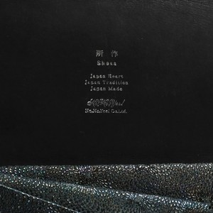 鮫小紋 -ロングウォレット - 鮫小紋×ブラック