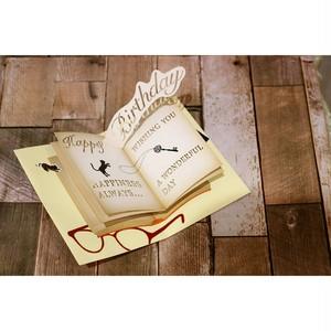 ネコ/誕生日メッセージカード 060110浜松雑貨屋 C0pernicus  便箋・封筒レターセット