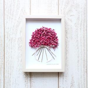 フレームフラワーかすみ草【濃Pink】プリザーブドフラワー インテリア ドライフラワー 贈り物 プレゼント ギフト 誕生日 母の日ギフト