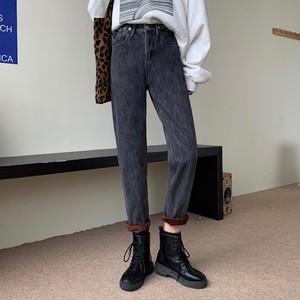 【ボトムス】超人気商品 シンプル ファッション ハイウエスト ボタン アンクル丈(9分丈)パンツ43086861