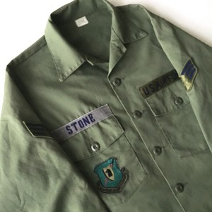 U.S.AIR FORCE : 80's fatigue shirt (used)