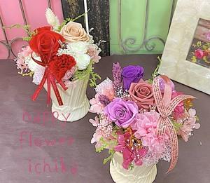 母の日 / カーネーションのプリザーブドフラワー(ピンク・レッド系)(全国配送可)