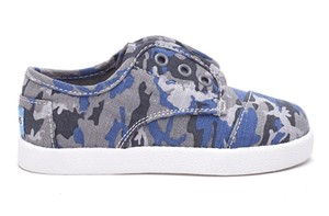 TOMS TINY CAMO COTTON RIPSTOP PASEO SNEAKERS