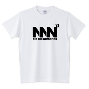 Dyckia Maniax ディッキア・マニアックス オリジナルTシャツNo.008「NNN:黒ロゴ」ホワイト