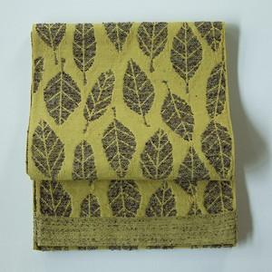 hecco / happa [mimosa×brown] ウールのモコモコが秋冬の季節感 大人のへこ帯