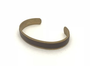 RE.ACT Buttero Leather Rail Bangle  Choco